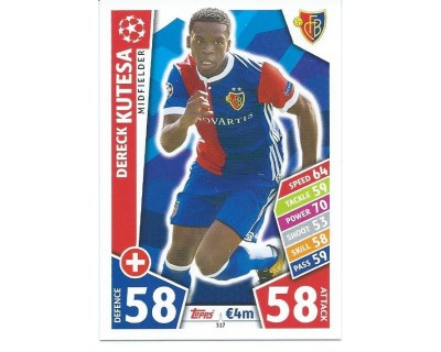 MATCH ATTAX CHAMPIONS LEAGUE 17/18 FC BASEL 1893 Nº 317