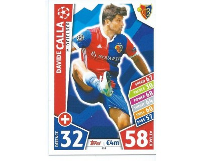 MATCH ATTAX CHAMPIONS LEAGUE 17/18 FC BASEL 1893 Nº 318