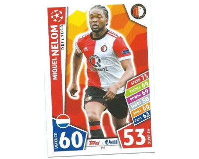 MATCH ATTAX CHAMPIONS LEAGUE 17/18 FEYENOORD Nº 347
