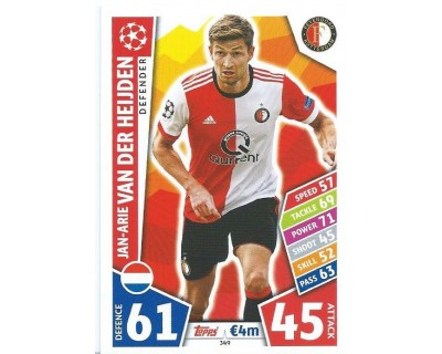 MATCH ATTAX CHAMPIONS LEAGUE 17/18 FEYENOORD Nº 349