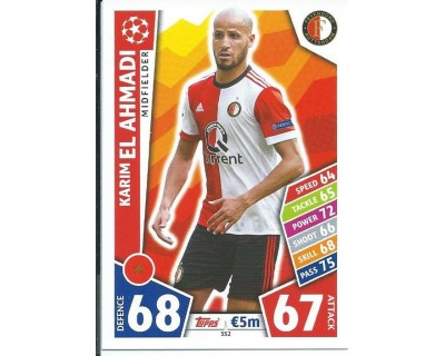 MATCH ATTAX CHAMPIONS LEAGUE 17/18 FEYENOORD Nº 352