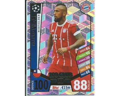 MATCH ATTAX CHAMPIONS LEAGUE 17/18 100 CLUB Nº 424