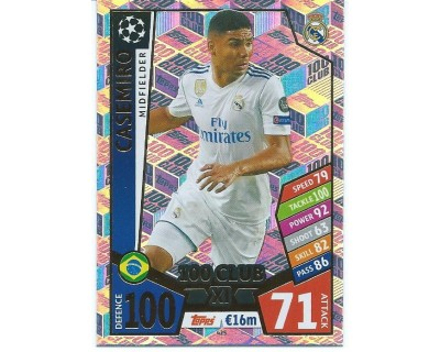 MATCH ATTAX CHAMPIONS LEAGUE 17/18 100 CLUB Nº 425