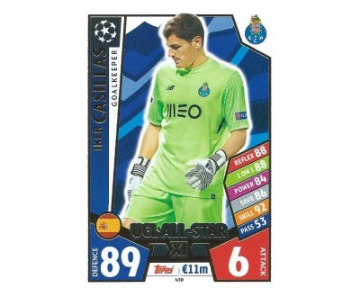 MATCH ATTAX CHAMPIONS LEAGUE 17/18 UCL ALL STAR Nº 430