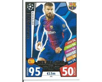 MATCH ATTAX CHAMPIONS LEAGUE 17/18 UCL ALL STAR Nº 433