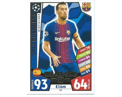 MATCH ATTAX CHAMPIONS LEAGUE 17/18 UCL ALL STAR Nº 435