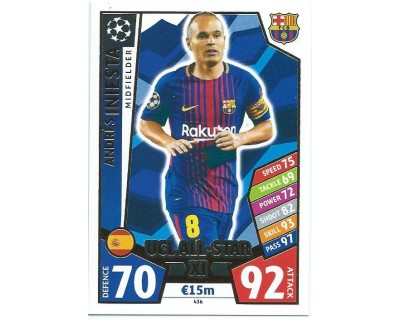 MATCH ATTAX CHAMPIONS LEAGUE 17/18 UCL ALL STAR Nº 436