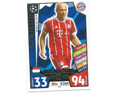 MATCH ATTAX CHAMPIONS LEAGUE 17/18 UCL ALL STAR Nº 437