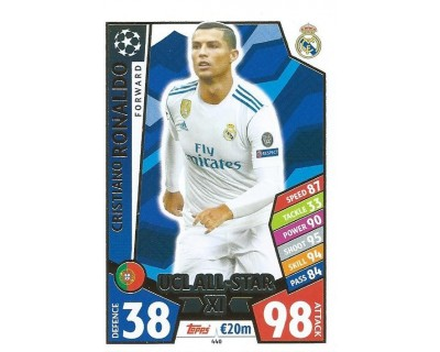 MATCH ATTAX CHAMPIONS LEAGUE 17/18 UCL ALL STAR Nº 440
