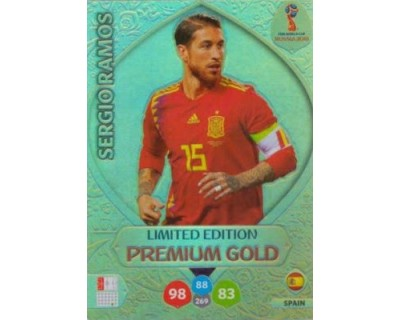 Adrenalyn World Cup 2018 SERGIO RAMOS PREMIUM GOLD LIMITED EDITION