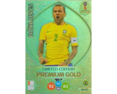 Adrenalyn World Cup 2018 DANI ALVES PREMIUM GOLD LIMITED EDITION
