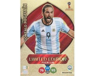 Adrenalyn World Cup 2018 HIGUAIN PREMIUM LIMITED EDITION