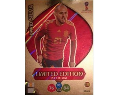 Adrenalyn World Cup 2018 DAVID SILVA PREMIUM LIMITED EDITION