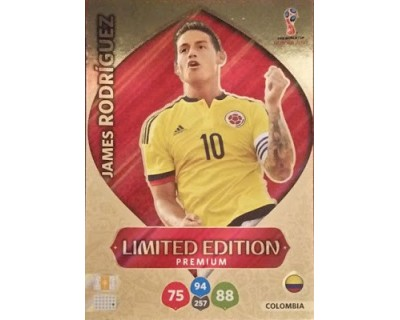 Adrenalyn World Cup 2018 JAMES RODRIGUEZ PREMIUM LIMITED EDITION