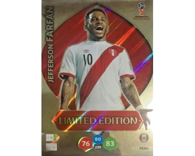 Adrenalyn World Cup 2018 JEFFERSON FARFAN LIMITED EDITION