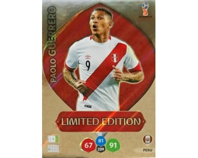 Adrenalyn World Cup 2018 PAOLO GUERRERO LIMITED EDITION