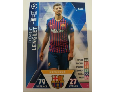 Macht Attax Champions League 2019 LENGLET Nº 3