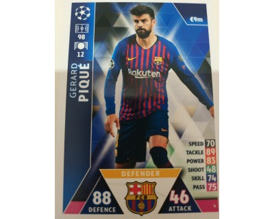 Macht Attax Champions League 2019 PIQUE Nº 4