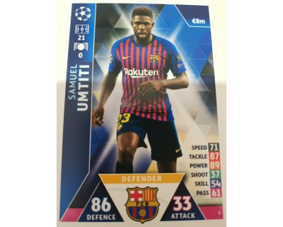 Macht Attax Champions League 2019 UMTITI Nº 5