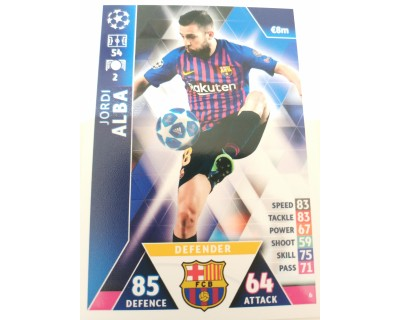 Macht Attax Champions League 2019 JORDI ALBA Nº 6