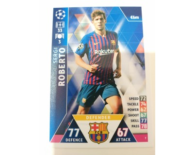 Macht Attax Champions League SERGI ROBERTO 2019 Nº 7