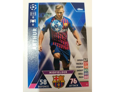 Macht Attax Champions League 2019 ARTHUR Nº 11
