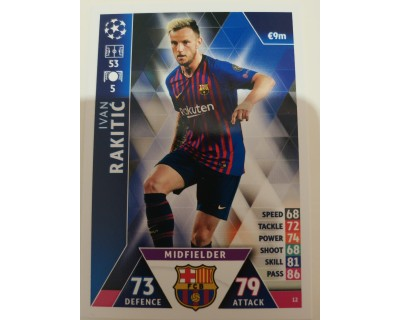 Macht Attax Champions League 2019 RAKITIC Nº 12