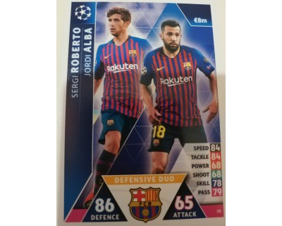 Macht Attax Champions League 2019 DEFENSIVE DUO Nº 18