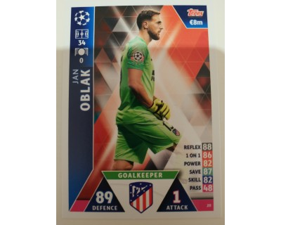 Macht Attax Champions League 2019 OBLAK Nº 20