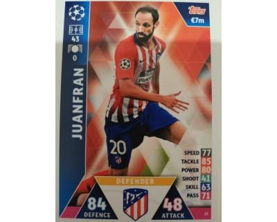 Macht Attax Champions League 2019 JUANFRAN Nº 21