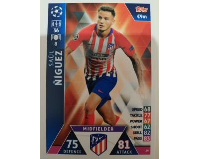 Macht Attax Champions League 2019 SAUL Nº 29