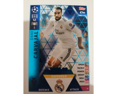Macht Attax Champions League 2019 CARVAJAL Nº 39