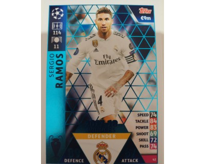 Macht Attax Champions League 2019 SERGIO RAMOS Nº 42