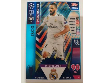 Macht Attax Champions League 2019 ISCO Nº 47