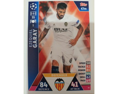Macht Attax Champions League 2019 GARAY Nº 59