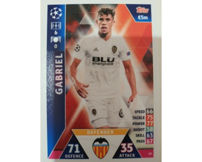 Macht Attax Champions League 2019 GABRIEL Nº 60