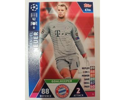 Macht Attax Champions League 2019 NEUER Nº 74