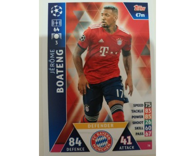 Macht Attax Champions League 2019 BOATENG Nº 78
