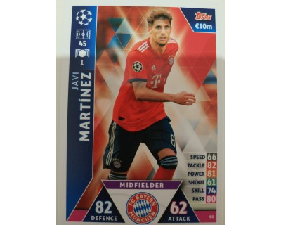 Macht Attax Champions League 2019 JAVI MARTINEZ Nº 80