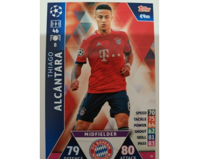 Macht Attax Champions League 2019 THIAGO ALCANTARA Nº 81