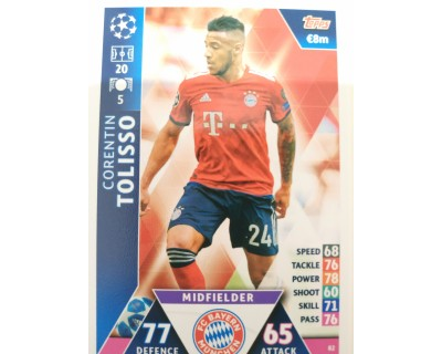 Macht Attax Champions League 2019 TOLISSO Nº 82