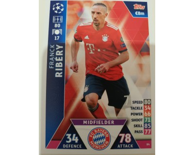 Macht Attax Champions League 2019 RIBERY Nº 84