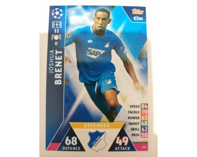 Macht Attax Champions League 2019 BRENET Nº 111