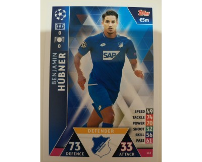 Macht Attax Champions League 2019 HUBNER Nº 113