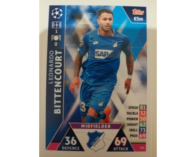 Macht Attax Champions League 2019 BITTENCOURT Nº 115