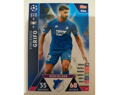 Macht Attax Champions League 2019 GRIFO Nº 116