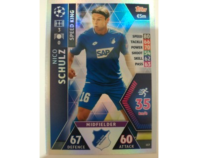 Macht Attax Champions League 2019 SCHULZ Nº 117 SPEED KING