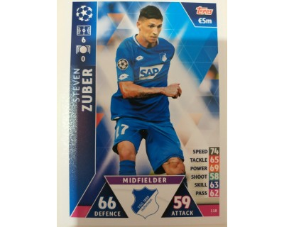 Macht Attax Champions League 2019 ZUBER Nº 118