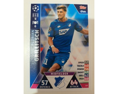 Macht Attax Champions League 2019 GRILLITSCH Nº 119