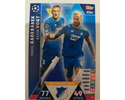 Macht Attax Champions League 2019 DEFENSIVE DUO Nº 126